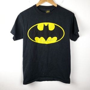 Batman | Black & Gold Boys Graphic Tee Shirt Small
